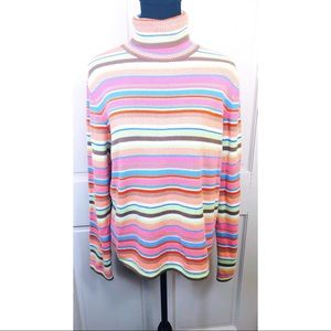 Crazy Horse Collection ribbed turtleneck sweater